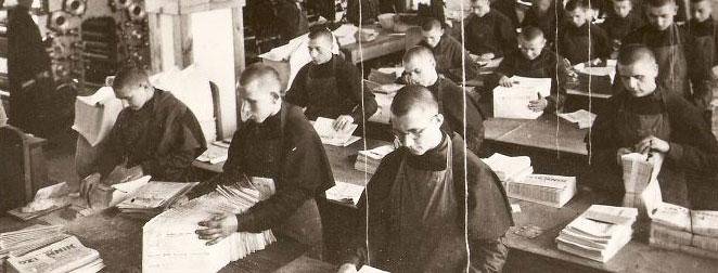 Friars at work